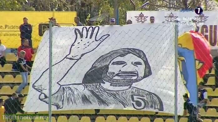 Romanian Liga 1: Dunarea Calarasi fans celebrating the 39th birthday of their manager Dan Alexa with a ridiculous choreography