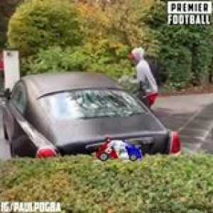 How Paul Pogba gets to his car... 😂😂
