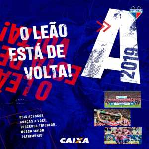 Fortaleza is promoted to 2019 Brazilian Série A