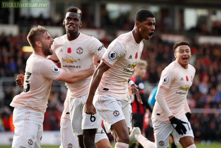 Marcus Rashford is the hero with a late, LATE goal as Man Utd come from behind to beat AFC Bournemouth