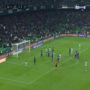 Betis [3]-3 Celta Vigo - Sergio Canales free-kick 87'