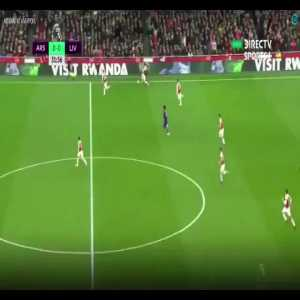 Defensive sequence by Lucas Torreira against Liverpool