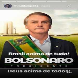 Willian of Chelsea FC announces his support for fascist Brazilian president-elect Jair Bolsonaro