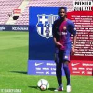 Throwback to Ousmane Dembele's unveiling at Barca...   Not one to remember 🙈😬