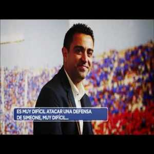 """Xavi criticizes Diego Simeone and proposes a new football format: """"Simeone believes that not having the ball is dominating the game. He convinced them that this way they can compete with Barca. Matches can be played with ten men. It would open more space and would be the antithesis of Simeone."""""""