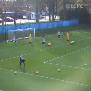 Jamie Vardy Ludicrous Goal in LCFC Training Today