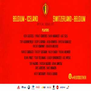 Belgium squad for the Nations League matches against Iceland and Switzerland