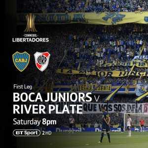 BT Sports will show Copa Libertadores final between Boca Juniors and River Plate