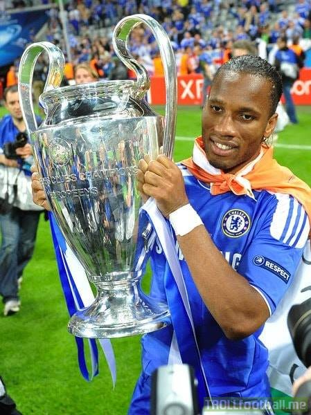 😢 Didier Drogba officially retires from football.  🏟 679 Games ⚽️ 367 Goals 🇨🇮 104 Caps  🏆🇪🇺 1x UCL 🏆🏴 4x Premier League 🏆🏴 4x FA Cup 🏆🏴 3x League Cup 🏆🇹🇷 1x Süper Lig 🏆🇹🇷 1x Turkish Cup 🏆🇹🇷 1x Turkish Super Cup 🏆🌍 2x African POTY  👑 Ultimate big game player.