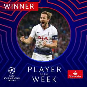 Harry Kane wins Champions League Player of the Week