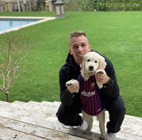 Arthur With Ramos(in barça shirt) looking so cute