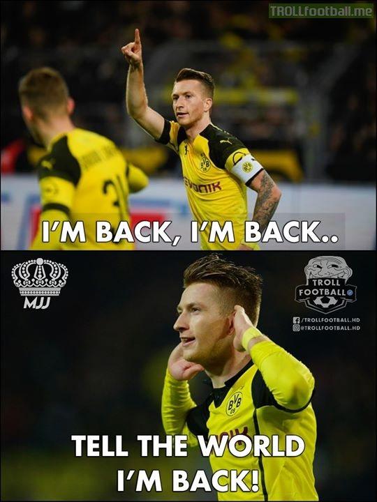 Marco Reus Is Back!🔥🔥🔥🔥