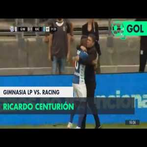 Gimnasia La Plata 0-[1] Racing Club — Ricky Centurión 32'