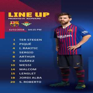 Messi back to the starting XI