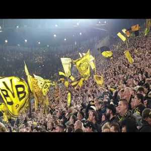Great footage of beer-showers on the Südtribüne when BVB scored against Bayern /