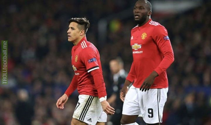 Lukaku and Sanchez completed a total of 4 passes during their 50 minutes on the pitch vs Man City.  Phil Foden who came on in the 90th min managed to complete 7 passes  😂😂😂