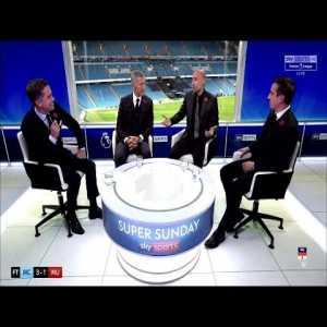 Sky Sports Full Post Match Analysis (Gary Neville & Pablo Zabaleta) | Manchester City 3-1 Manchester United