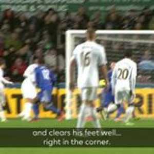 Cut inside and 💥  GoalOfTheDay is a superb Swansea strike