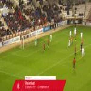 [U19 - Spain v. Denmark] Borja Mayoral's beautiful goal to claim his hat-trick