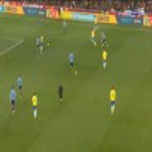 Brazil 1-0 Uruguay - Neymar penalty 76'