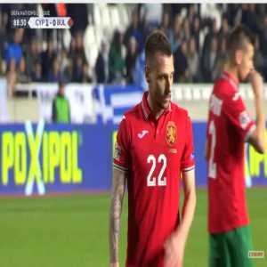 Cyprus 1-[1] Bulgaria - Nikolay Dimitrov penalty 89'