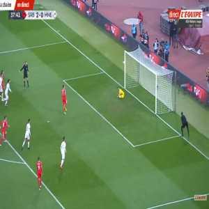 Aleksandar Mitrovic (Serbia) penalty miss against Montenegro 38'