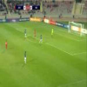 Jordan's goalkeeper scoring a goal
