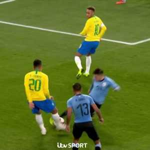 Lucas Torreira great double challenge against Neymar and Firmino.