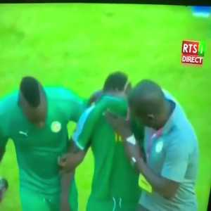 Mané was distraught and subsequently taken off after he was given stick by Senegalese fans for missing an easy chance
