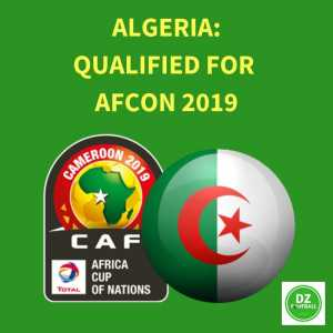 Algeria have qualified for AFCON 2019