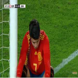 Alvaro Morata miss against Bosnia 58'