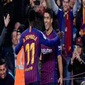 """Luis Suarez on Ousmane Dembélé in today's Uruguay press conference: """"I think being a footballer is a privilege. I think he should focus on football, and take inspiration from the exemplary professionals in the Barcelona dressing room."""""""