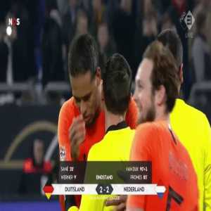 "Virgil van Dijk consoles referee Ovidiu Hategan: ""He told me his mom recently passed away. He broke down and started crying. I consoled him and told him he refereed well. Its a small thing, but I hope it helped"""