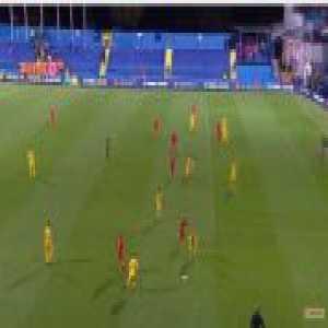 Ciprian Tatarusanu (Romania) penalty save against Montenegro 72'