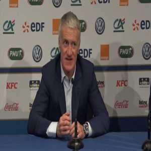 Deschamps praises Griezmann after forward's penalty gesture to Giroud