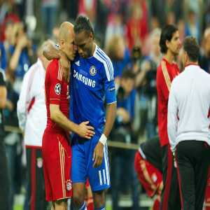 Bayern to Drogba on Twitter: You broke our hearts once but we still want to congratulate you on a superb career. All the best for the future.
