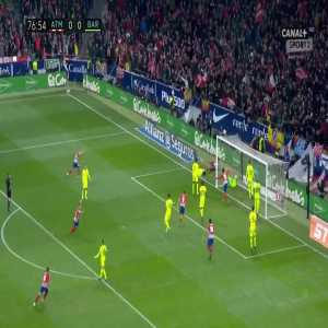 Atlético Madrid [1]:0 Barcelona - Diego Costa 77'