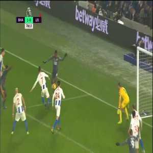 Brighton 1-[1] Leicester: Vardy PK + Foul