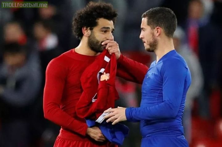 Just a reminder that 'one season wonder' Salah has more goals (9) than Hazard (8) who is having the best form of his life....