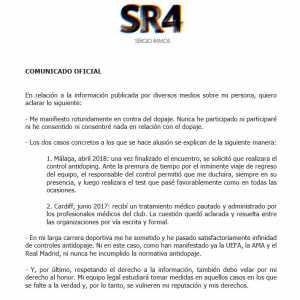 Sergio Ramos's comunicado oficial