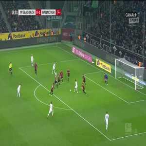 Borussia Mönchengladbach [1]:1 Hannover 96 - Thorgan Hazard 7'