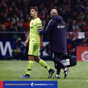 Sergi Roberto will be out for 3-4 weeks with a left hamstring injury.