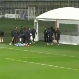 Ronaldo left foot trickshot in training