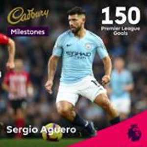 Sergio Aguero leads a star-studded line-up in the latest round of Cadbury UK PL Milestones