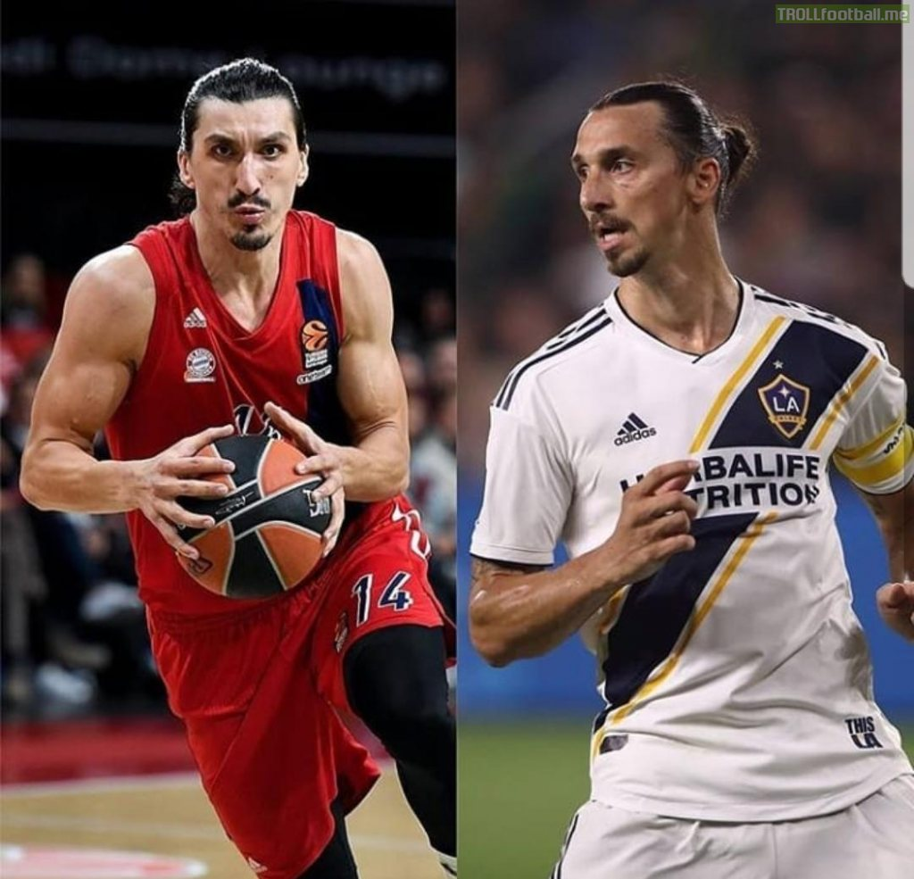 Left: Nihad Djedovic(basketball player) Right: Zlatan Ibrahimovic