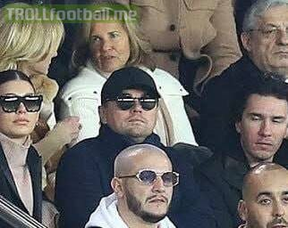 """Leonardo DiCaprio"" was at PSG Vs Liverpool tonight, but he wasn't still the best actor in the stadium 😂😂😂😂😂😂"