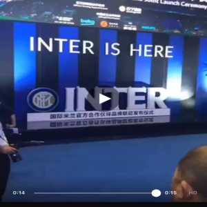 Official Inter even in China plays the Milan song