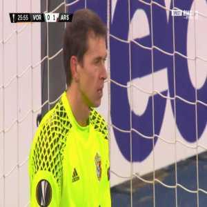 Vorskla 0-2 Arsenal - Aaron Ramsey penalty 27' (+ call)