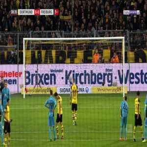 Dortmund 1-0 Freiburg - Marco Reus penalty 40' (+ call)