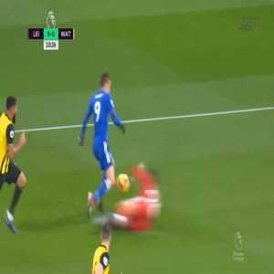 Leicester 1-0 Watford - Jamie Vardy penalty 12'